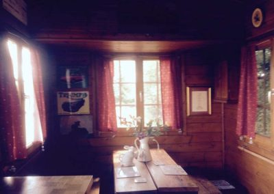 Log cabin dining area